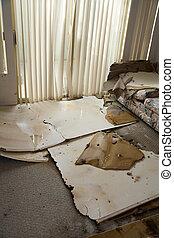 wasser, daheim, beschädigt, lecken