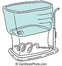 wasser, flossing, vorrichtung