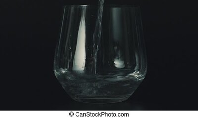 wasser, gießen, glas