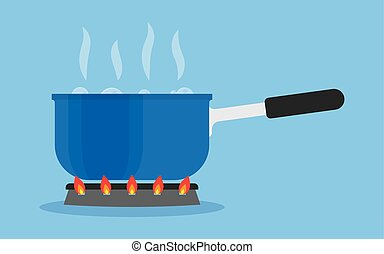 wasser, kochen, kochherd, pfanne, kueche