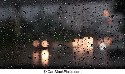 wasser, licht, fenster, tropfen, auto