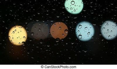 wasser, licht, fenster, tropfen, kreis