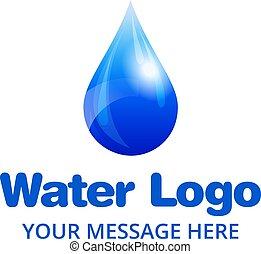 wasser, logo, tropfen