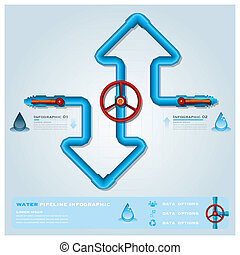 Wasser, rohrleitung. Illustration., seamless, wasser,... Vektoren ...