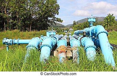 Wasser, rohrleitung. Groß, rohrleitung, australia, wasser ...