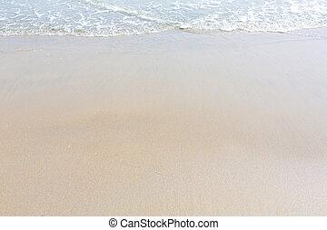 wasser, sandstrand, hintergrund