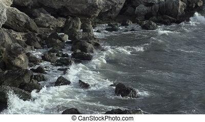 Wasser, seicht, Seeküste, felsig