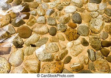 wasser, steinen, unter