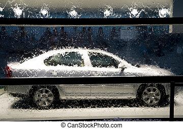 wasser, und, auto