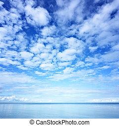 wasser, und, himmelsgewölbe