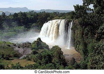wasserfälle, in, äthiopien