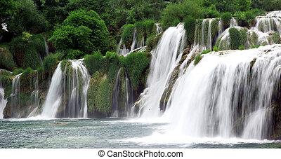 wasserfälle, in, kroatien
