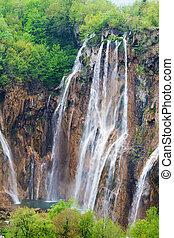 wasserfälle, in, plitvice, seen, nationalpark, kroatien, senkrecht, kugel