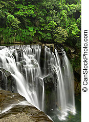 wasserfälle, in, shifen, taiwan