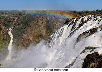 wasserfälle, namibia, ruacana