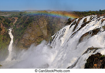 wasserfälle, ruacana, namibia