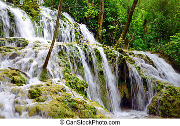 wasserfall, in, krka, nationalpark, croatia.