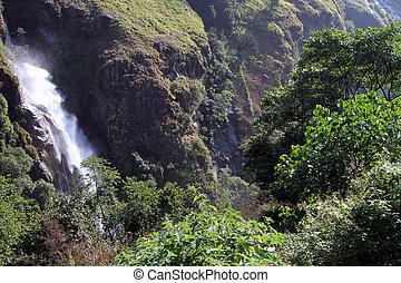wasserfall, in, nepal