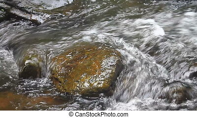 wasserfall, wald, tief, natur