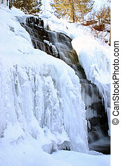 wasserfall, winter