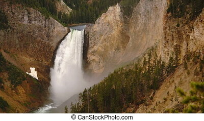 wasserfall, yellowstone nationalpark, wyoming, vereinigte...