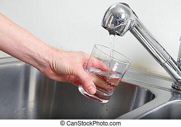wasserglas, füllung