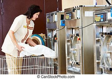 wasserij, dienst