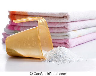 wasserij, en, wasmiddel