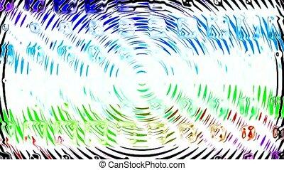 wasserkräuselung, blaues, material, glas