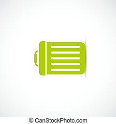 Waste bucket vector icon