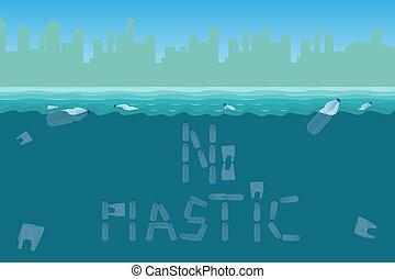 waste., catastrophy., pollution, écologique, plastique, eau