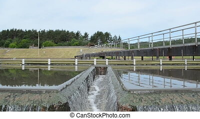 waste clarification water - Primary sewage waste water...