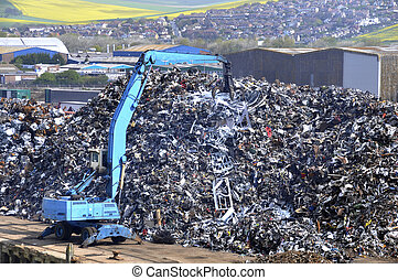 Waste collection centre - Waste metal collection centre in...