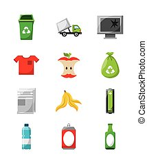 waste concept design, vector illustration eps10 graphic
