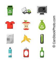 waste concept design - waste concept design, vector...