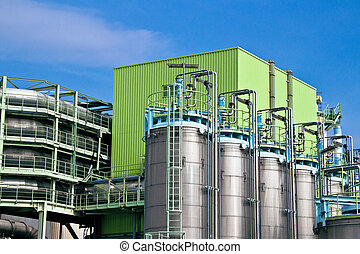 Details of an industrial municipal waste incineration plant