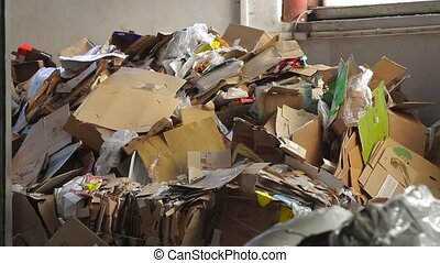 Waste paper. Big Factory For Recycling Paper and Carboard.