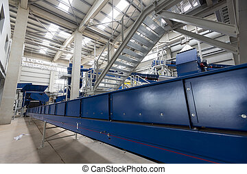 Waste plant inside process storage methane oil organic -...