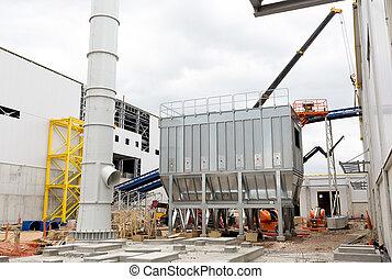 Waste plant outside process storage methane oil organic