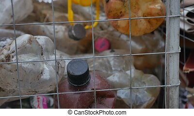 waste plastic sorting bottles and other types of plastic...