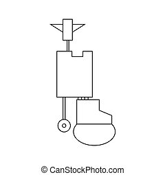 Waste processing plant icon, outline style