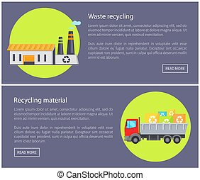 Waste Recycling Material Vector Illustration