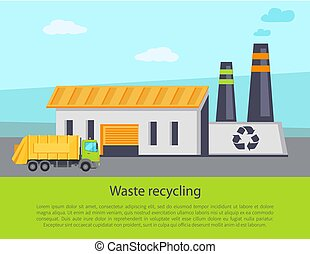 Waste Recycling Poster Text Vector Illustration