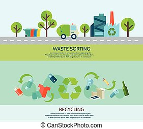 Waste Sorting Banners Set - Waste sorting and recycling ...