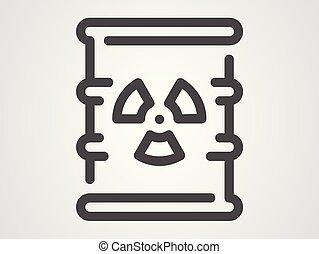waste vector icon sign symbol