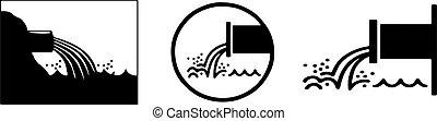 waste water icon on white background