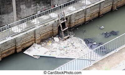 waste water pipe and garbage
