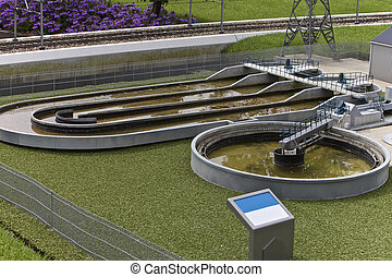 Waste water treatment plant, Madurodam Miniature Town,...