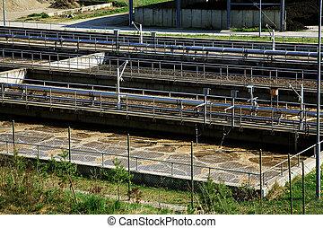 Waste water treatment - Waste Water Treatment ponds - sewage
