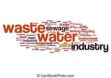 Waste water word cloud concept